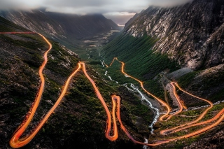 Free Trollstigen Serpentine Road in Norway Picture for Android, iPhone and iPad