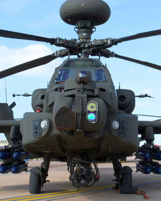 Mi 28 Military Helicopter Background for Nokia Asha 306