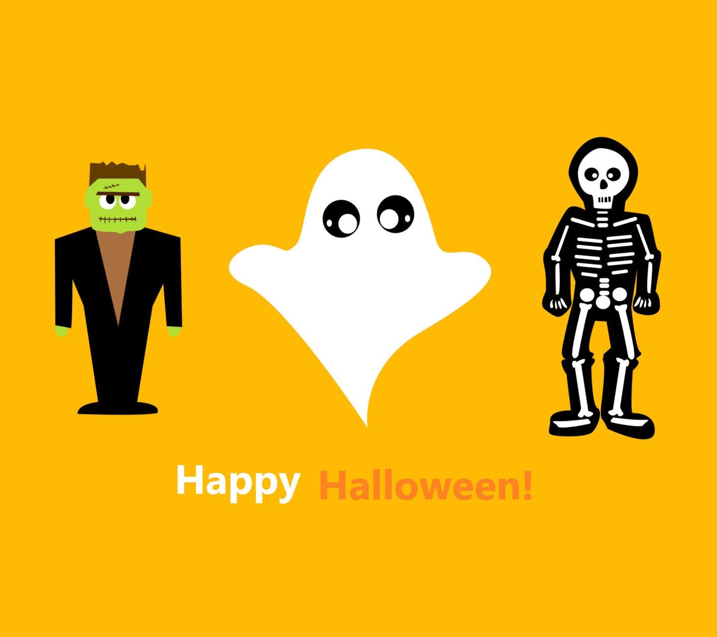 Screenshot №1 pro téma Halloween Costumes Skeleton and Zombie 1440x1280