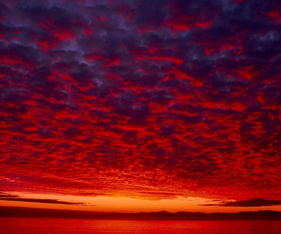 картинки красный закат