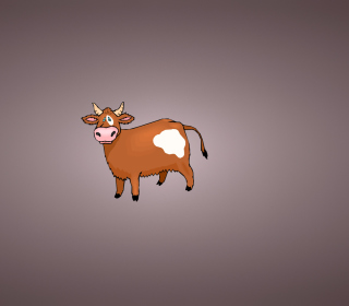 Funny Cow Illustration sfondi gratuiti per 1024x1024