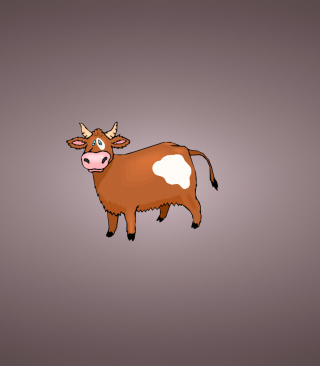 Funny Cow Illustration Background for Nokia Asha 311