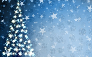 Christmas Tree Art Background for Android, iPhone and iPad