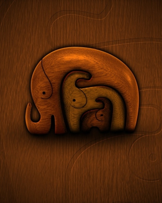 Three Elephants Wallpaper for iPhone 6 Plus