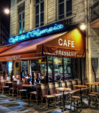 Paris Cafe Background for 240x320