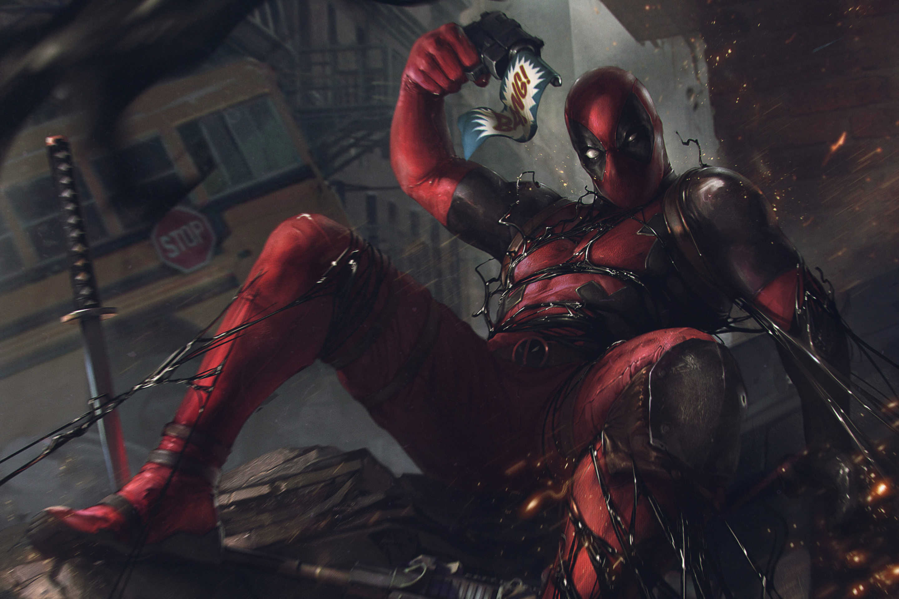 Das Deadpool Comics Wallpaper 2880x1920