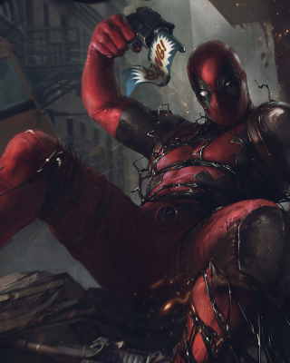 Deadpool Comics Background for iPhone 3G