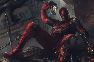 Kostenloses Deadpool Comics Wallpaper für Samsung I9080 Galaxy Grand