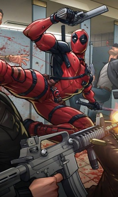 Screenshot №1 pro téma Deadpool Art 240x400