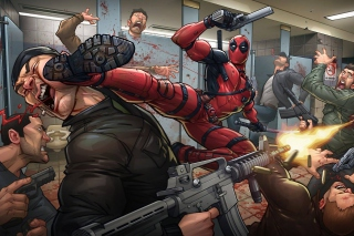 Deadpool Art Picture for Android, iPhone and iPad