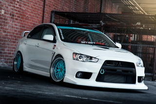 Mitsubishi Lancer Background for Android, iPhone and iPad