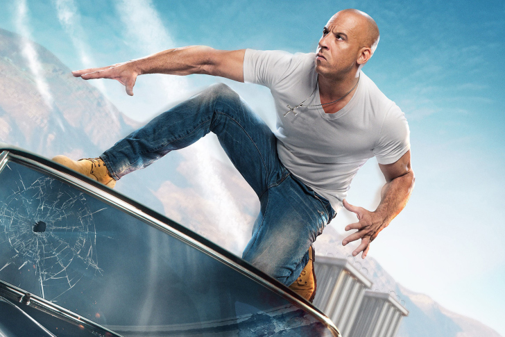 Fast & Furious Supercharged Poster with Vin Diesel wallpaper