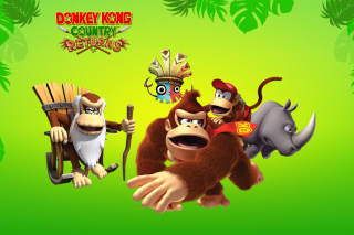 Donkey Kong Country Returns Arcade Game Background for 1200x1024