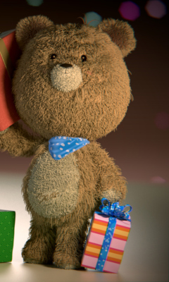 Screenshot №1 pro téma Teddy Bear With Gifts 240x400