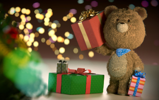Kostenloses Teddy Bear With Gifts Wallpaper für Android 540x960