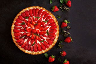Strawberry pie Background for Android, iPhone and iPad
