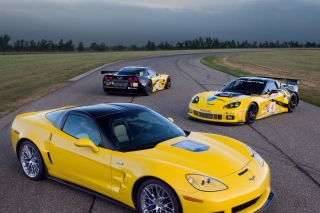 Chevrolet Corvette C6R GT2 Background for Android, iPhone and iPad
