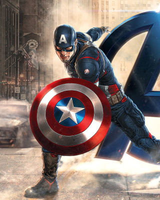 Free Captain America Marvel Avengers Picture for Nokia Asha 306