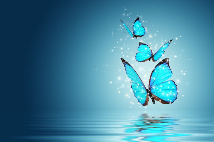 Glistening Magic Butterflies wallpaper