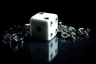 Dice And Metal Chain Background for Android, iPhone and iPad