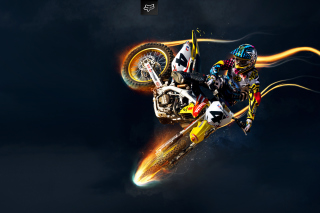 Freestyle Motocross Background for 480x320