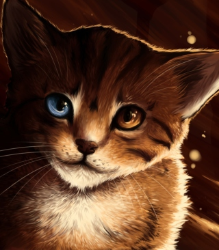 Drawn Cat Background for Nokia X6