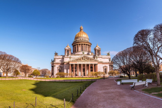 Wallpaper St Isaacs Cathedral, St Petersburg, Russia Picture for Android, iPhone and iPad
