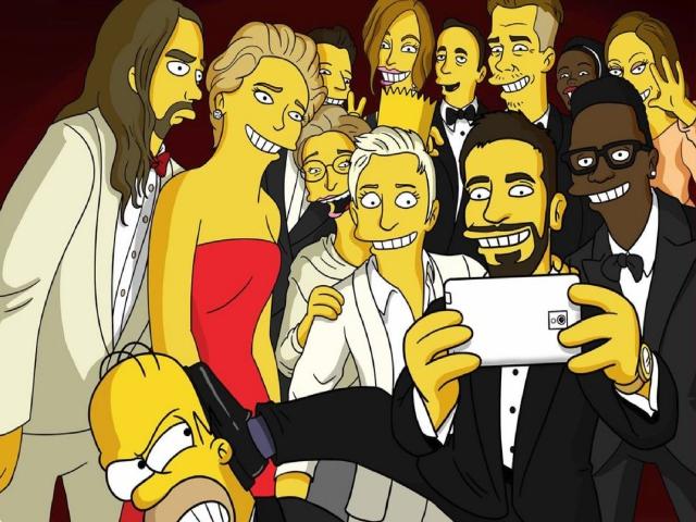 Simpsons Oscar Selfie for Sony Ericsson XPERIA X8