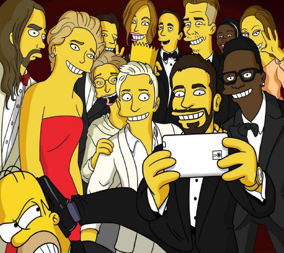 Simpsons Oscar Selfie para Sony Ericsson XPERIA Neo V