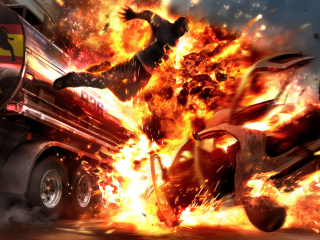 Screenshot №1 pro téma Car Crash Explosion 320x240