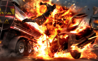 Kostenloses Car Crash Explosion Wallpaper für Samsung Galaxy Ace 3