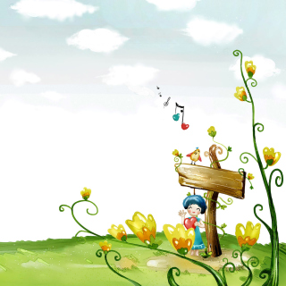 Fairyland Illustration sfondi gratuiti per 1024x1024