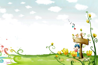 Kostenloses Fairyland Illustration Wallpaper für HTC Wildfire