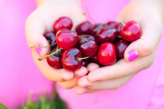 Cherries In Hands Wallpaper for Android, iPhone and iPad