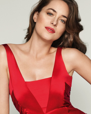 Dakota Johnson in Vogue Magazine Background for HTC Titan