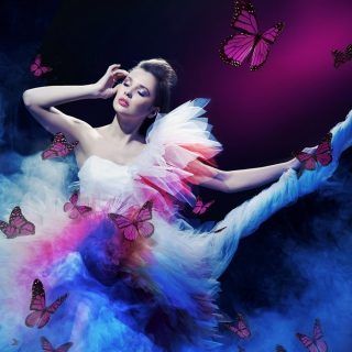 Girl And Butterflies - Fondos de pantalla gratis para iPad 2