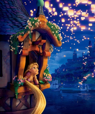 Free Tangled Picture for iPhone 6 Plus