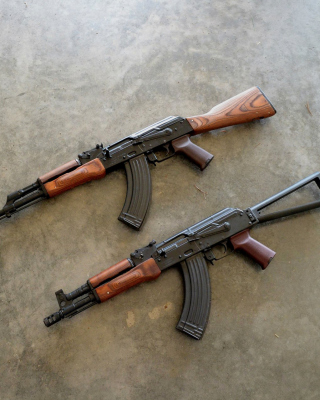 AK 74 Kalashnikov Assault Rifle Picture for Nokia Asha 305
