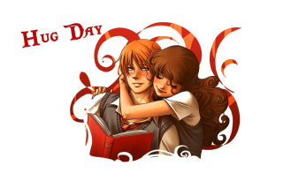 National Hugging Day papel de parede para celular para 1366x768