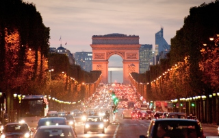 Avenue Des Champs Elysees Picture for Android, iPhone and iPad
