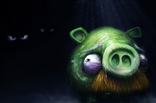 Kostenloses Angry Birds Alone Pig Wallpaper für Android, iPhone und iPad