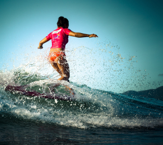 Colorful Surfing Wallpaper for iPad Air
