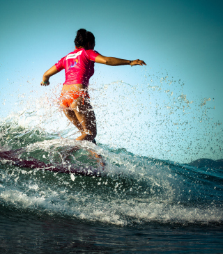 Colorful Surfing Wallpaper for Nokia X1-00
