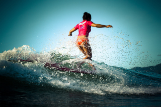 Colorful Surfing Wallpaper for LG P500 Optimus One