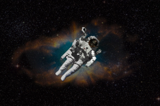 Skull Of Astronaut In Space Background for Android, iPhone and iPad