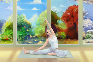 Yoga Girl Picture for Android, iPhone and iPad
