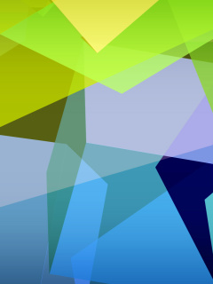 Screenshot №1 pro téma Light Geometric Shapes 240x320