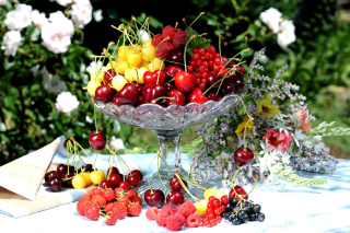 Summer berries and harvest Wallpaper for 1080x960