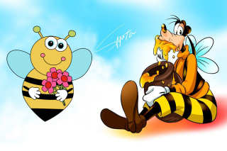 Goofy Bees Background for Widescreen Desktop PC 1280x800