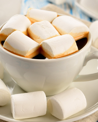 Kostenloses Marshmallow and Coffee Wallpaper für iPhone 5S